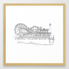 The Jersey Shore by the Downtown Doodler Framed Art Print