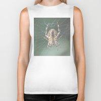 spider Biker Tanks featuring Spider by Dora Birgis