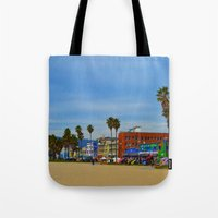 boardwalk empire Tote Bags featuring Boardwalk by Life Of A Lens Studios