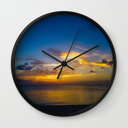 Cloudfish Over Open Water Wall Clock