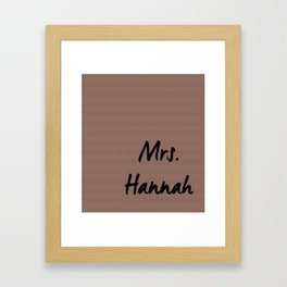 Mrs. Wedding Print Framed Art Print