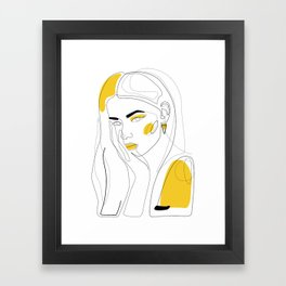 In Gold Framed Art Print