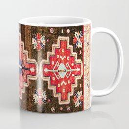Antique Kazak Rug With 3 Medallions Print Coffee Mug