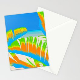 Tropical Colored Banana Leaves Design Stationery Cards