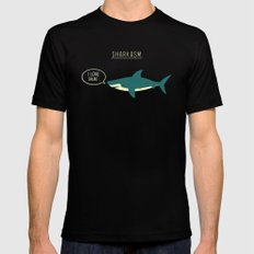 Sharkasm Black LARGE Mens Fitted Tee