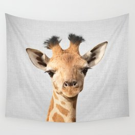 Baby Giraffe - Colorful Wall Tapestry