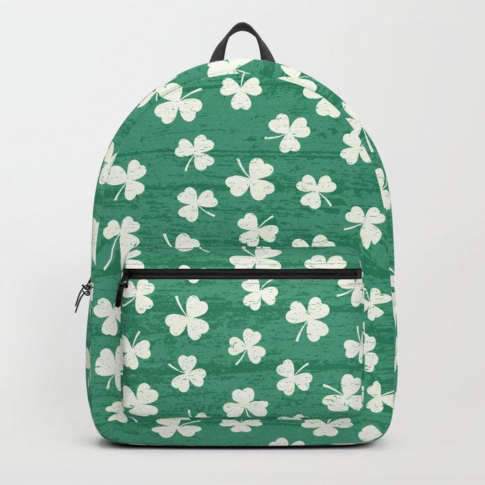 DANCING SHAMROCKS on green Backpack