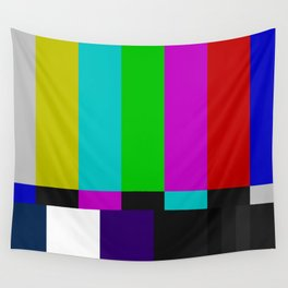 SMPTE Color Bars (as seen on TV) Wall Tapestry