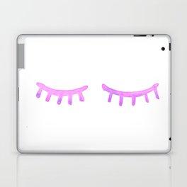 Pink Watercolor Lashes Laptop & iPad Skin