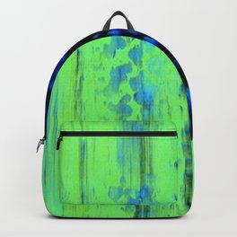 Urban Rain IV Painterly Abstract Backpack