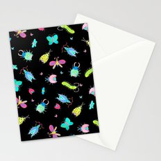 Neon Bugs Stationery Cards