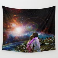 woodstock Wall Tapestries featuring Woodstock Love Vibrant by ZiggyChristenson