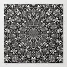 Monochrome Mandala Canvas Print