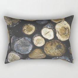 Stacked wood Rectangular Pillow