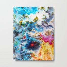 Abstract Melt VII Metal Print