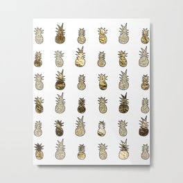 Gold pineapple pop Metal Print