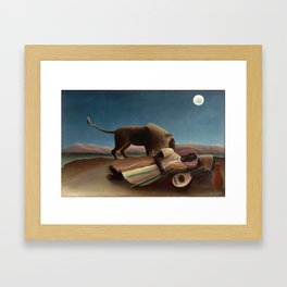 Henri Rousseau - The Sleeping Gypsy Framed Art Print