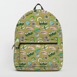 Sushi, Yum! in gold Backpack