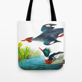 Red-breasted Merganser Bird Tote Bag