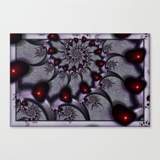 Goth Hearts and Spikes Canvas Print