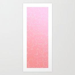 Pink Boobies Art Print
