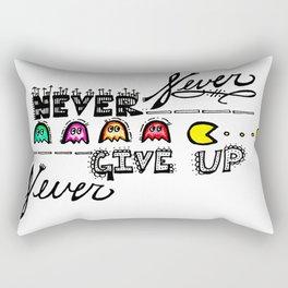 """""""Never Give Up""""  Rectangular Pillow"""