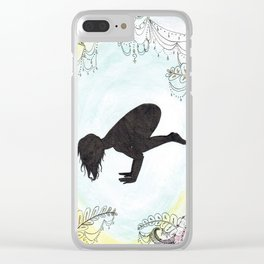 Cow Pose Clear iPhone Case