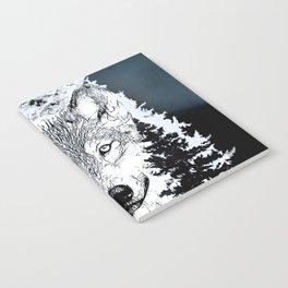 Forest Wolf Art Notebook