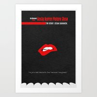 rocky horror picture show Art Prints featuring The Rocky Horror Picture Show by Ayse Deniz