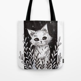 White Kitty Tote Bag