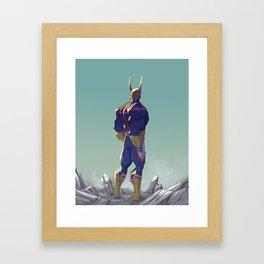 All might! Framed Art Print