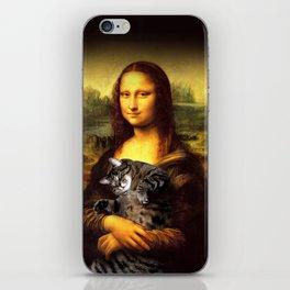 Mona lisa fat crazy cat photo kitty fatso famous painting iPhone Skin
