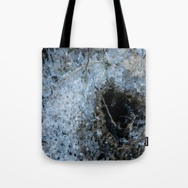 Icy Footprints Tote Bag