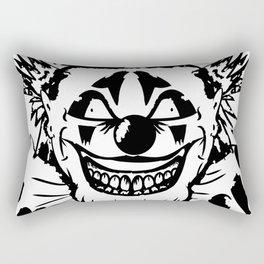 Black and white Evil Clown Rectangular Pillow