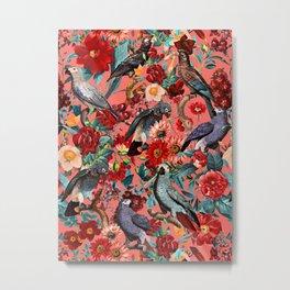 FLORAL AND BIRDS XIX Metal Print