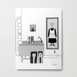 Living Room on Troy Ave Metal Print