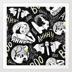 Classic Horror Halloween Art Print
