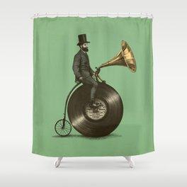 Music Man (Green Option) Shower Curtain