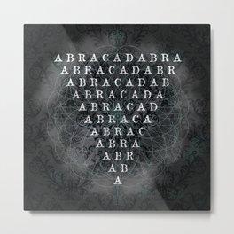 Abracadabra Reversed Pyramid in Charcoal Black Metal Print