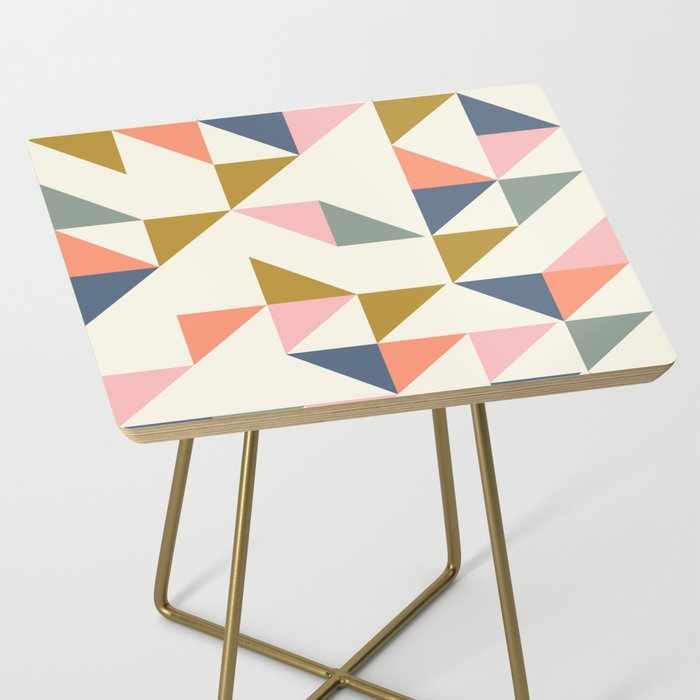 Floating Triangle Geometry Side Table