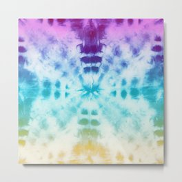 Technicolor Sunburst Tie-dye Metal Print