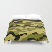 camouflage Duvet Covers featuring CAMOUFLAGE by I Love Decor