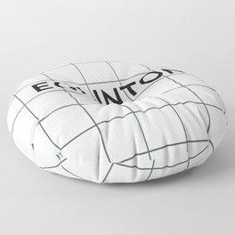 EGLINTON | Subway Station Floor Pillow