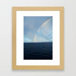 CARIBBEAN DOUBLE RAINBOW Framed Art Print