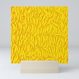 It's Full of Bananas / Yellow graphic banana pattern Mini Art Print