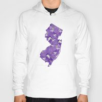 new jersey Hoodies featuring New Jersey in Flowers by Ursula Rodgers
