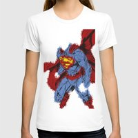 man of steel T-shirts featuring Man Of Steel by alsalat