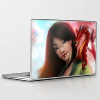 mulan Laptop & iPad Skins featuring Mulan by ChrySsV