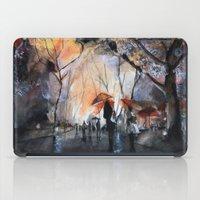 rain iPad Cases featuring Autumn rain - watercolor by Nicolas Jolly