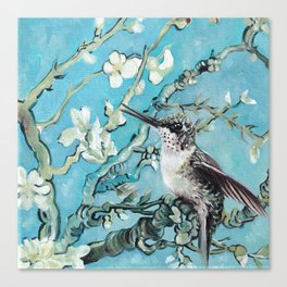 Almond Blossom with Hummingbirds III Canvas Print